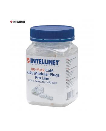 Intellinet Network Solutions Intellinet Wtyk modularny RJ45 8P8C Cat6 UTP na drut słoik 80 szt
