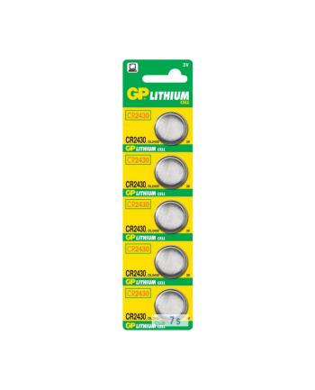 Bateria guzikowa litowa GP Batteries CR2430-U5 3.0V | blister 5 szt.