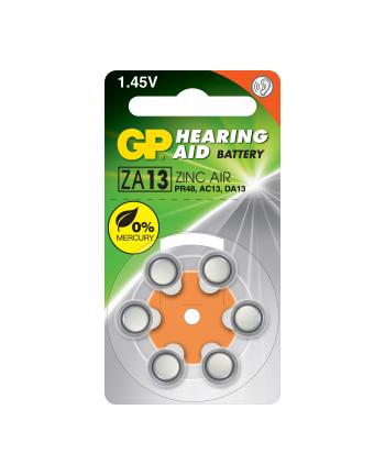 GP Batteries Bateria do aparatów słuch. ZA13F-D6 cynk.-powietrzna|DA13|1.45V| blister 6 szt.
