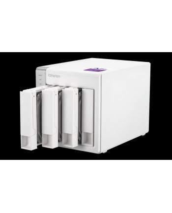 QNAP 4-Bay TurboNAS, SATA 6G, 1,7GHz 2-Core, 1GB RAM, 2x GbE LAN, 3xUSB 3.0