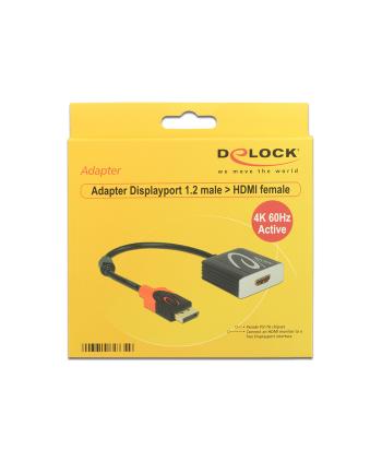 Delock Adapter Displayport 1.2 męski > HDMI żeński 4K 60 Hz aktywne