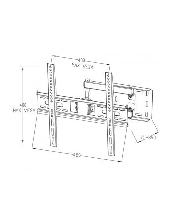 ART Uchwyt do TV LCD/LED 22-55' 35KG AR-53 regulacja pion i poziom