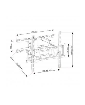 ART Uchwyt do telewizora 23-60' LED/LCD 45kg UX150 regulowany    pion/poziom