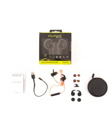 Creative Labs Outlier Sport bezprzewodowe słuchawki douszne pomarańczowe