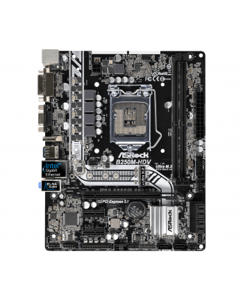 ASRock B250M-HDV s1151 B250 4DDR4 USB3.0/1xM.2 uATX