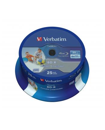 Verbatim BD-R 6x 25GB 25P CB HTL Printable NO ID 43811