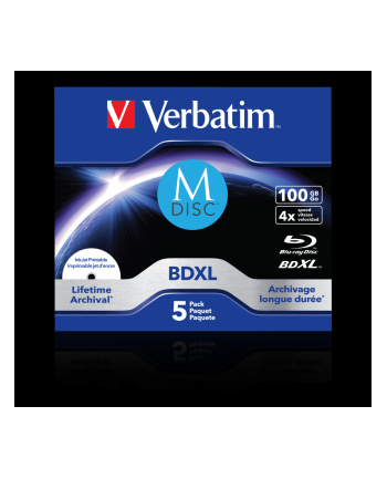 Verbatim M-DISC BD-R 4x 100GB 5P JC Printable 43834