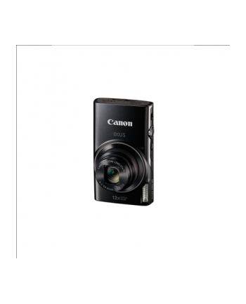 Canon Digital IXUS 285 HS Black Essentials Kit, 20.2 Mpixel BSI-CMOS/ DIGIC 4+/ 12x optical zoom/ Closest focusing distance 1cm from front of lens macro/ Intelligent IS/ ISO 3200/ 3.0'' LCD/ Full HD 1920x1080/ High-speed shooting/ Supports SD/SDH