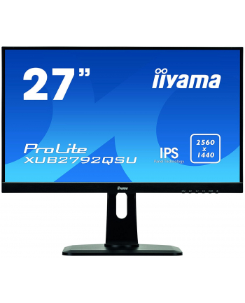 Monitor Iiyama XUB2792QSU-B1, 27'', panel IPS, 2560x1440, DVI/HDMI/DP, hub USB
