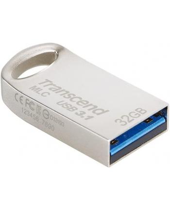 TRANSCEND USB Flash Disk JetFlash®720S, 32GB, USB 3.1, Silver (R/W 130/45 MB/s) MLC solution