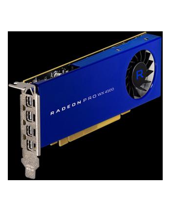 Karta graficzna AMD Radeon Pro WX4100 PCI-E 4GB 4xmDP Retail