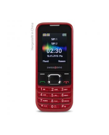 DORO Swisstone SC230 Dual SIM, czerwony