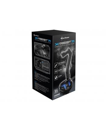 Sharkoon Shark X-Rest 7.1 USB - karta muzyczna 7.1 wbudowana w stojak na słuchawki