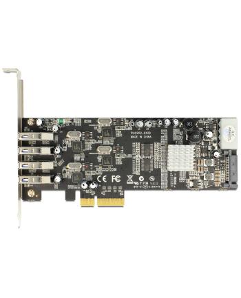 Delock Karta PCI Express x4 > 4 x zewnętrzne USB 3.0 Quad Channel
