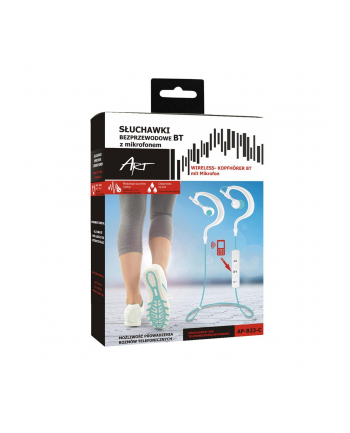 ART Słuchawki BT z mikrofonem AP-B23 białe/turkus sport