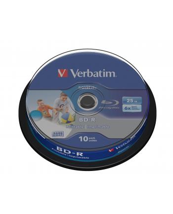 BD-R Verbatim Printable Datalife 25GB 6x 10szt. cake