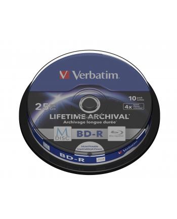 M-DISC BD-R VERBATIM 25GB X4 INKJET PRINT (CAKE 10)