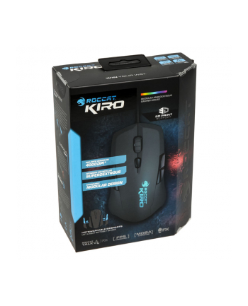 Mysz przewodowa Roccat optyczna Kiro mudularna 4000dpi czarna