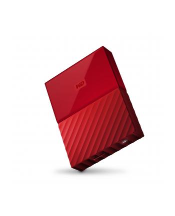 Dysk zewnętrzny Western Digital MY PASSPORT 4000GB 2 5  USB 3.0 Czerwony WDBYFT0040BRD