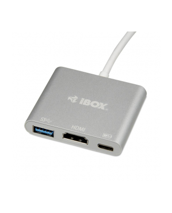 Koncentrator USB I-Box IUH3CFT1 USB TYPE-C POWER DELIVERY + HDMI + USB A