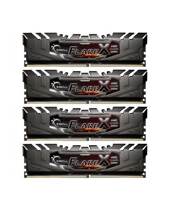 G.Skill DDR4 64GB 2400-CL15 Flare X - Quad Kit - Black