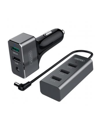 Unitek Ładowarka samochodowa tablet/smartfon 2+3x USB 2,4A , Y-P530A