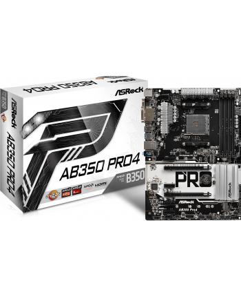 ASRock AB350 PRO4 B350 4DDR4 USB3.0/M.2 ATX