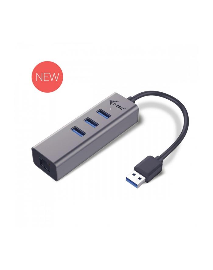 i-tec USB 3.0 Metal 3-portowy HUB z adapterem Gigabit Ethernet główny