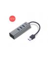 i-tec USB 3.0 Metal 3-portowy HUB z adapterem Gigabit Ethernet - nr 2