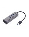 i-tec USB 3.0 Metal 3-portowy HUB z adapterem Gigabit Ethernet - nr 9