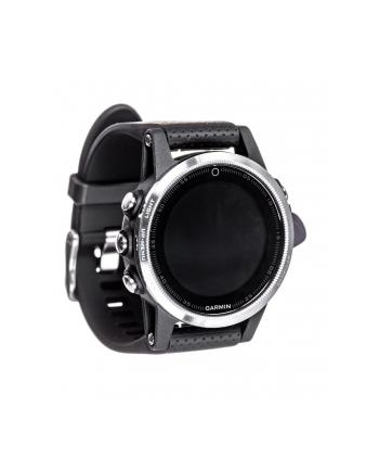 MIO Garmin GPS zegarek sportowy fenix5S srebrny, czarny pasek