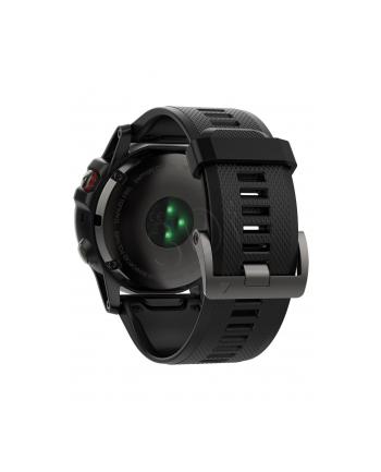 MIO Garmin GPS zegarek sportowy fenix5x Sapphire Gray Optic, czarny pasek