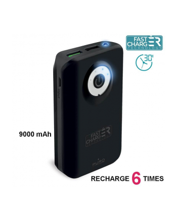 PURO External Fast Power Bank 9000 mAh black