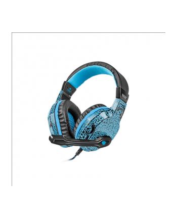 NATEC Słuchawki dla graczy Fury Hellcat podświetlenie LED