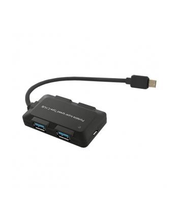 Qoltec HUB USB 3.1 typC | 4 Porty USB 3.0 AF