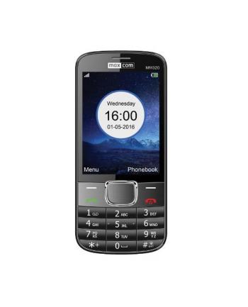 MaxCom MM320, Telefon Komórkowy 3.2 cala wyśw, Czarny