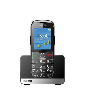 MaxCom MM720BB, Telefon GSM, Telefon Komórkowy Dla Seniora, Czarno-Srebrny