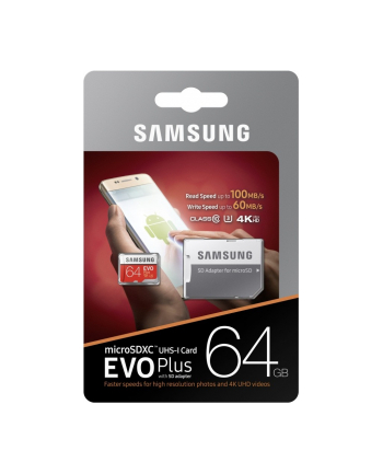 Samsung MB-MC64GA/EU EVO+ mSD +Adapter