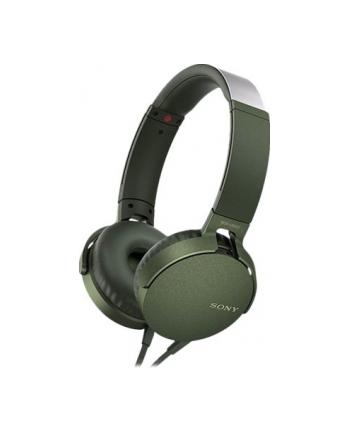 Sony MDR-XB550APG zielone, mikrofon