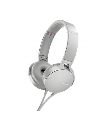 Sony MDR-XB550APW białe mikrofon