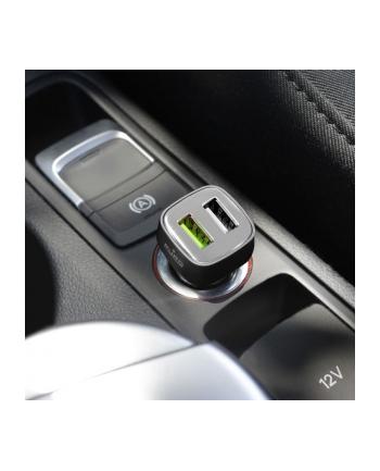 Mini Car Fast Charger - Uniwersalna ładowarka samochodowa 2 x USB 2.4 A square (czarny)