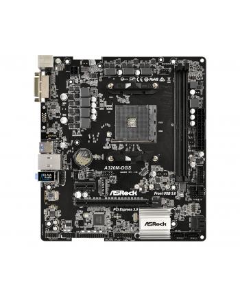 ASRock A320M-DGS, AMD A320 Mainboard - Sockel AM4