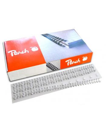Peach Grzbiety drutowe  3:1'' 34 węzły A4 6mm srebrne (100 szt.)