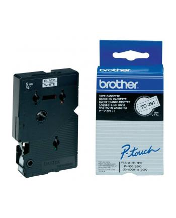 Taśma Brother 9mm BLACK ON WHITE TAPE