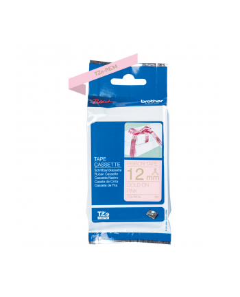 Taśma Brother 12mm Gold/Pink ribbon tape