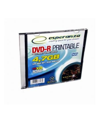 DVD-R ESPERANZA [ slim jewel case 1x200 | 4,7GB | 16x | do nadruku ]karton200szt