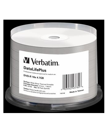 Verbatim DVD-R [ spindle 50 | 4.7GB | 16x | WIDE THERMAL PRINTABLE SILVER]