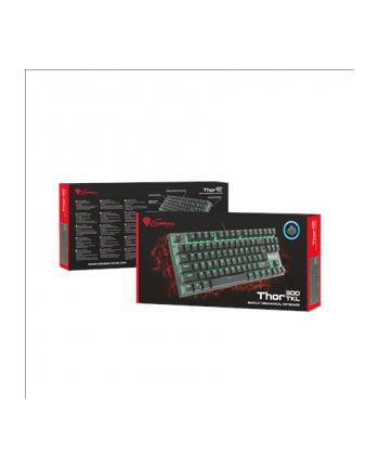 Natec Klawiatura GENESIS THOR 300 TKL GAMING Zielone podświetlenie USB, US layout