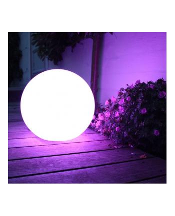 GreenBlue GB122 Solarna lampa wolnostojaca ogrodowa - kula 15x15x48cm, kolor LED