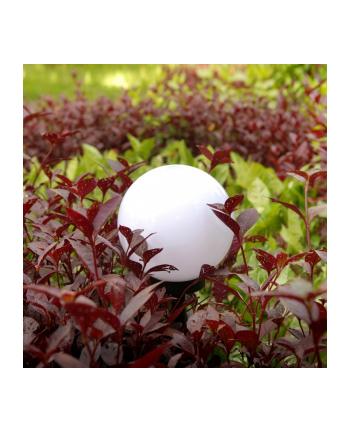 GreenBlue GB123 Solarna lampa wolnostojaca ogrodowa - kula 20x20x53cm, bialy LED